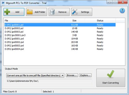 Click to view Mgosoft PCL To PDF Converter 12.0.1 screenshot