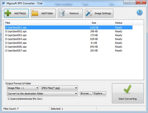 Mgosoft XPS Converter - click for full size